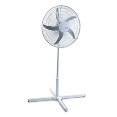 Holmes HASF2120: 20 Three-Speed Adjustable Oscillating Power Stand Fan, Metal / Plastic, White