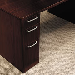 HON 11899GNN: Attune Double Pedestal Desk, Frosted Mod Panel, 72w x 36d x 29-1/2h, Mahogany