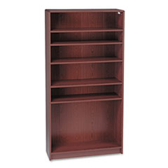 HON 1896N: 1890 Series Bookcase, Six Shelf, 36w x 11 1/2d x 72 5/8h, Mahogany