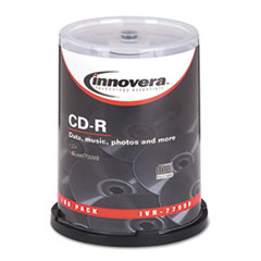 Innovera 77990: CD-R Discs, 700MB / 80min, 52x, Spindle, Silver, 100 / Pack
