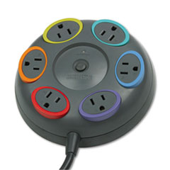 Kensington 62634: SmartSockets Color-Coded Surge Protector, 6 Outlets, 16 ft Cord, 1500 Joules