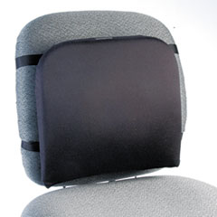 Kensington 82025: Memory Foam Backrest, 16 w x 12 d x 16 h, Black