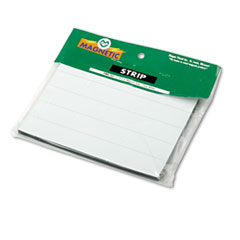 Magna Visual PMR761: Magnetic Write-On / Wipe-Off Pre-Cut Strips 6 x 7/8, White, 25 / Pack