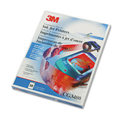 3M CG3480: Inkjet Transparency Film, Letter, Clear, 50 / Box