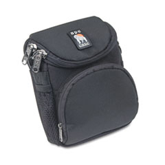 Norazza AC220: Camcorder / Digital Camera Case, Ballistic Nylon, 5 x 3-1/2 x 6-5/8, Black