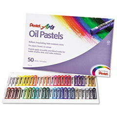 Pentel PHN50: Oil Pastel Set with Carrying Case, 45-Color Set, Assorted, 50 / set