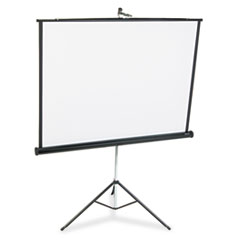 Quartet 560S: Portable Tripod Projection Screen, 60 x 60, White Matte, Black Steel Case