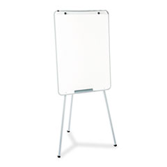 Quartet 70EG: Oval Office Dry Erase Presentation Easel, Melamine, 29 x 40, Gray, Framed