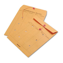 Quality Park 63561: Brown Kraft String Button Interoffice Envelope, 10 x 13, 100 / Carton