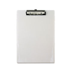 Saunders 00442: Plastic Clipboard, 1/2 Capacity, 8 1/2 x 12 Sheets, Pearl