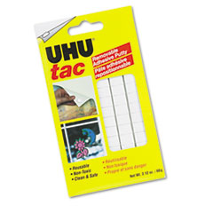 UHU Glue 99683: Tac Adhesive Putty, Removable / Reusable, Nontoxic, 2.12 oz, 80 pieces / Pack