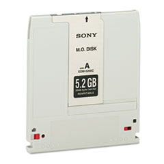 Sony EDM5200: Magneto Optical Disk, 5.25, 5.2GB, 2,048 Bytes / Sector, Rewritable