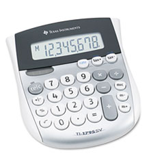 Texas Instruments TI1795SV: TI-1795SV Minidesk Calculator, 8-Digit LCD