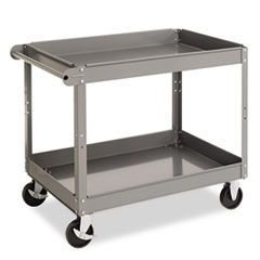 Tennsco SC2436: Two-Shelf Metal Cart, 24w x 36d x 32h, Gray