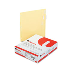 Universal 20831: Economical Insertable Index, Clear Tabs, 5-Tab, Letter, Buff, 24 Sets / Box