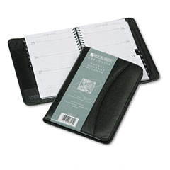 At A Glance 7034505: Recycled Executive Weekly / Monthly Planner, 4-7/8 x 8, Black, 2013-2014