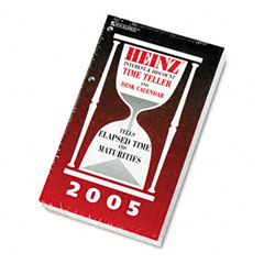 At A Glance H21250: Heinz Time Teller Daily Desk Calendar Refill, 4 1/2 x 7 3/8, White, 2009
