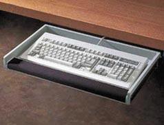 rubbermaid heavyduty underdesk keyboard drawer with wrist rest storage platinum - Keyboard Drawer