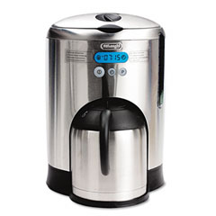 Delonghi Coffee Maker Stainless Steel Carafe : DeLonghi DCM485: 10-Cup Stainless Steel Coffee Maker with Double-Wall Stainless Steel Thermal Carafe