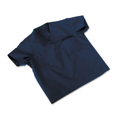 Medline Industries 910JNTMCM: Comfortease Scrub Tops, Washable, Poly / Cotton, Med, Midnight Blue