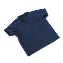 Medline Industries 910JNTSCM: Comfortease Scrub Tops, Washable, Poly / Cotton, Small, Midnight Blue