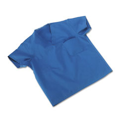 Medline Industries 910JTHMCM: Comfortease Scrub Tops, Washable, Poly / Cotton, Med, Sky Blue