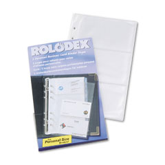 Rolodex Small Business Card Binder Refill Pages