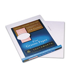 Southworth P954C: Fine Granite Paper, 24 Lbs., 8-1/2 x 11, Rose, 80 / Pack
