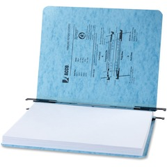 ACCO 35072: ACCO PRESSTEX Hanging Report Covers, Letter Size Sheets, 2 Capacity, Light Blue 2 Folder Capacity Letter 8 1/2 x 11 Sheet Size 20 pt. Folder Thickness Presstex Light Blue..