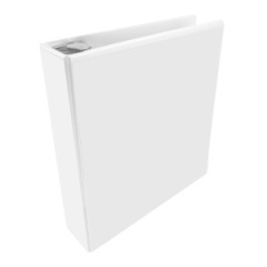 Wilson Jones 36212W: Round Ring View Binder Letter 8 1/2 x 11 Sheet Size 30 Sheet Capacity 3 x Clip Fastener s Polypropylene White 1 Each