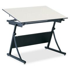 Safco 3948: PlanMaster Adjustable Drafting Table Top Rectangle Top 37.50 Table Top Length x 60 Table Top Width x 0.75 Table Top Thickness Assembly Required Melamine