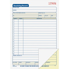 Adams Business Forms DC5089: Carbonless Receiving Record Book 50 Sheet s 2 Part Carbonless Copy 8 7/16 x 5 9/16 Sheet Size 1 Each
