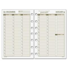 Day Runner 481485: Vertical Weekly Planning Pages Julian Weekly 1 Year January 2018 till December 2018 1 Week Double Page Layout 5 1/2 x 8 1/2 7-ring Binder Cream, White Paper Tabbed