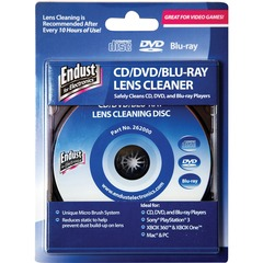 Endust 262000: CD / DVD / BR Lens Cleaner for Optical Media, Hard Drive, Gaming Console, Audio Equipment, Video Equipment 1 Each