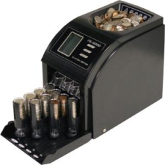 Royal Sovereign FS4000: 4-Row Digital Coin Sorter 600 Coin Capacity Counts 312 coins / min Sorts 312 coins / min-4 Auto Advance Rows-Anti Jamming Technology
