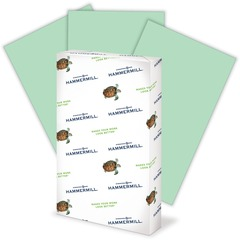 Hammermill 103374: Fore Super Premium Paper Legal 8.50 x 14 20 lb Basis Weight Recycled 30 Recycled Content 500 / Ream Green