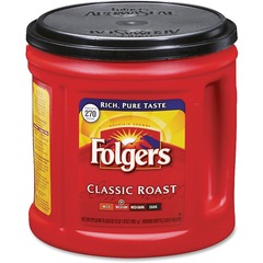 Folgers 00367CT: Classic Roast Coffee Ground Regular Medium 33.9 oz 6 / Carton