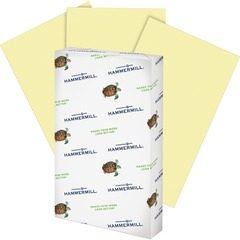 Hammermill 103358: Fore Multipurpose Paper Legal 8.50 x 14 20 lb Basis Weight Recycled 30 Recycled Content 500 / Ream Canary