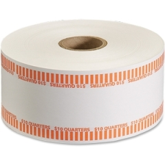 MMF Industries 2160651D16: 10Dollar / Qtrs Automatic Wrapper Rolls 1000 ft Length 1900 Wrap s Heavy Duty 50 lb Paper Weight Kraft Orange, White
