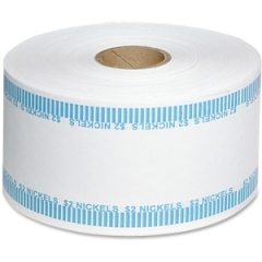 MMF Industries 2160651B08: 2Dol / Nickels Automatic Wrapper Rolls 1000 ft Length 1900 Wrap s Heavy Duty 50 lb Paper Weight Kraft Blue, White