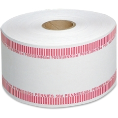 MMF Industries 2160651A07: 50c / Pennies Automatic Wrapper Rolls 1000 ft Length 1900 Wrap s Heavy Duty 50 lb Paper Weight Kraft Red, White