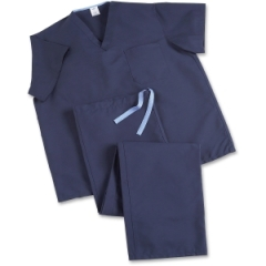 Medline Industries 910JNTSCM: ComfortEase V-Neck Scrub Top Small S Unisex 1 Each Midnight Blue