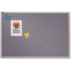 Quartet VTA406B: Vinyl Tack Bulletin Board 48 Height x 72 Width Blue Vinyl Surface Silver Satin Aluminum Frame