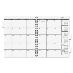 At A Glance 7092375: Planner Refill Monthly 1 Year January 2016 till December 2016 1 Month Double Page Layout 9 x 11 White, Cream