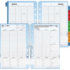 Franklin Covey 37624: Seasons Planner Refill Weekly 1 Year January 2017 till December 2017 8 00 AM to 8 00 PM 1 Week Double Page Layout 5.50 x 8.50 White, Light Blue, Black Tabbed