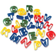 Creativity Street 9771: Dough Cutter Letters 26 Piece s 26 / Set Assorted Plastic
