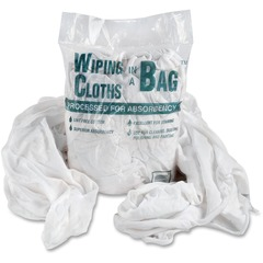 United Facility Supply 00070: Office Snax Cotton Wiping Cloths Wipe 1 / Bag White, Blue