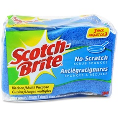 Scotch-Brite MP3CT: No Scratch Scrub Sponges 2.8 Height4.5 Depth 24 / Carton Blue