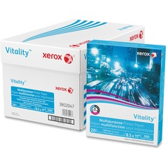 Xerox 3R2047: Vitality Multipurpose Printer Paper Letter 8.50 x 11 20 lb Basis Weight 92 Brightness 5000 / Carton White