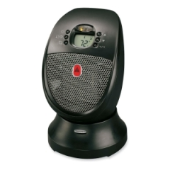 Honeywell HZ338: HZ-338 Digital Oscillating Ceramic Heater Ceramic Electric 2 x Heat Settings 12.50 A Black